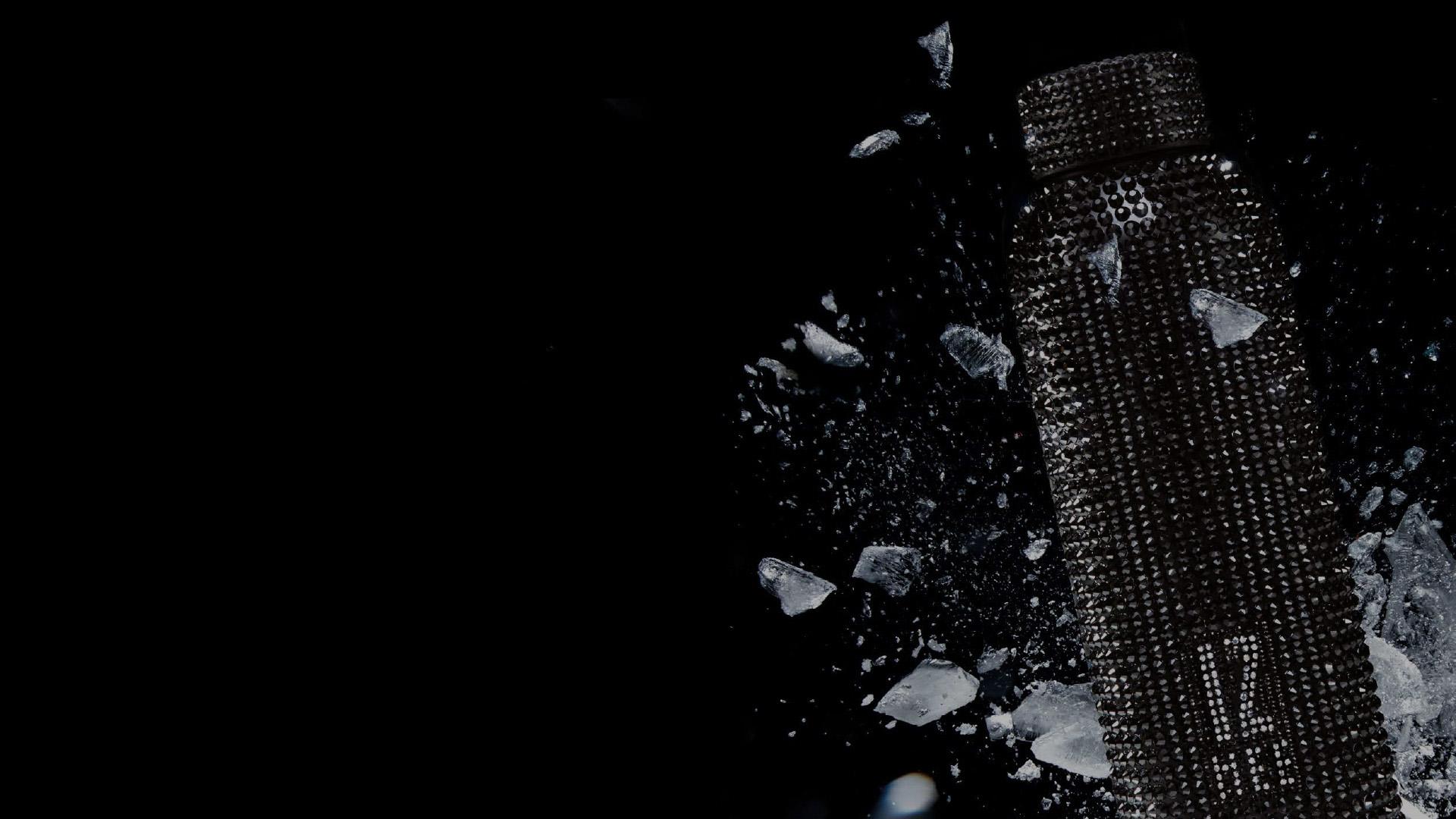 borraccia crystal con ghiaccio